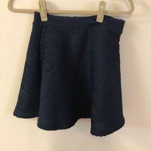 Topshop blue rib skirt